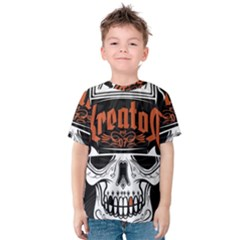 Kreator Thrash Metal Heavy Hard Rock Skull Skulls Kids  Cotton Tee