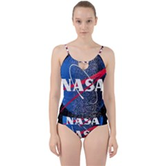 Nasa Logo Cut Out Top Tankini Set by Samandel