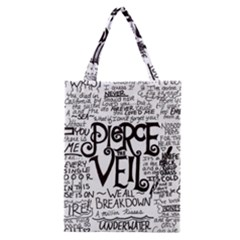 Pierce The Veil Music Band Group Fabric Art Cloth Poster Classic Tote Bag by Samandel