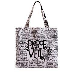 Pierce The Veil Music Band Group Fabric Art Cloth Poster Zipper Grocery Tote Bag by Samandel