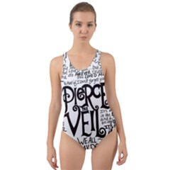 Pierce The Veil Music Band Group Fabric Art Cloth Poster Cut Out Back One Piece Swimsuit by Samandel