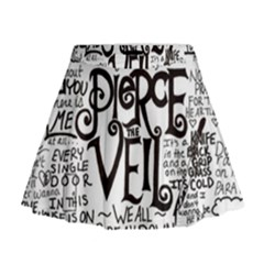 Pierce The Veil Music Band Group Fabric Art Cloth Poster Mini Flare Skirt