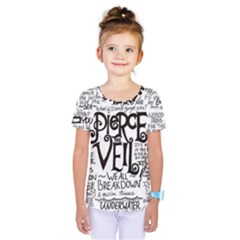 Pierce The Veil Music Band Group Fabric Art Cloth Poster Kids  One Piece Tee