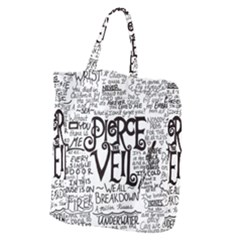 Pierce The Veil Music Band Group Fabric Art Cloth Poster Giant Grocery Zipper Tote by Samandel