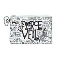Pierce The Veil Music Band Group Fabric Art Cloth Poster Canvas Cosmetic Bag (medium) by Samandel