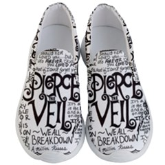 Pierce The Veil Music Band Group Fabric Art Cloth Poster Men s Lightweight Slip Ons by Samandel