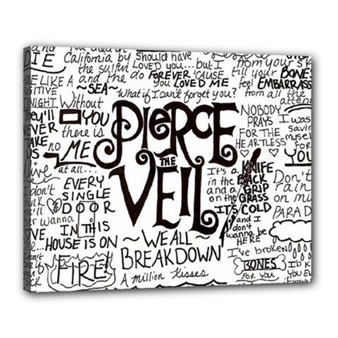 Pierce The Veil Music Band Group Fabric Art Cloth Poster Canvas 20  X 16  by Samandel