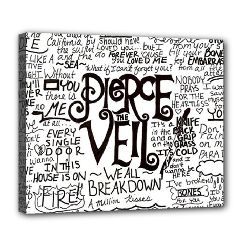 Pierce The Veil Music Band Group Fabric Art Cloth Poster Deluxe Canvas 24  X 20   by Samandel
