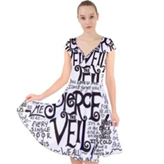 Pierce The Veil Music Band Group Fabric Art Cloth Poster Cap Sleeve Front Wrap Midi Dress