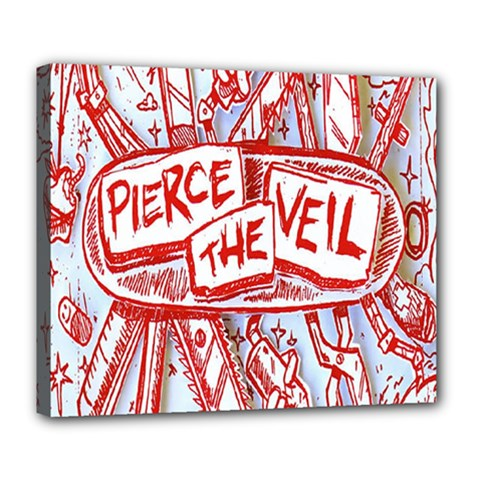 Pierce The Veil  Misadventures Album Cover Deluxe Canvas 24  X 20   by Samandel