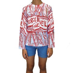 Pierce The Veil  Misadventures Album Cover Kids  Long Sleeve Swimwear by Samandel