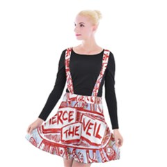 Pierce The Veil  Misadventures Album Cover Suspender Skater Skirt