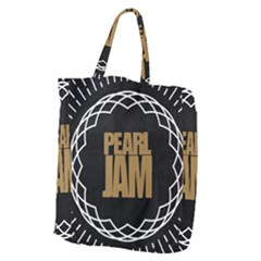 Pearl Jam Logo Giant Grocery Zipper Tote