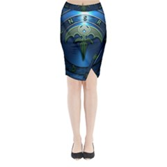 Queensryche Heavy Metal Hard Rock Bands Midi Wrap Pencil Skirt