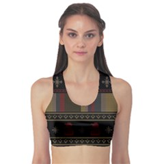 Tardis Doctor Who Ugly Holiday Sports Bra