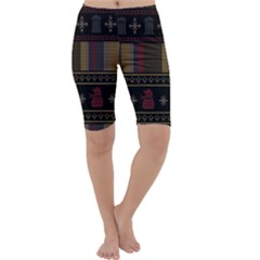 Tardis Doctor Who Ugly Holiday Cropped Leggings