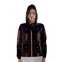 Tardis Doctor Who Ugly Holiday Hooded Wind Breaker (Women)