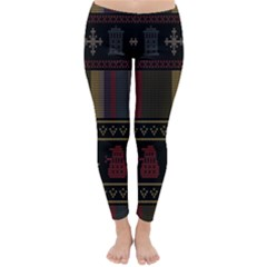 Tardis Doctor Who Ugly Holiday Classic Winter Leggings