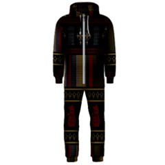 Tardis Doctor Who Ugly Holiday Hooded Jumpsuit (Men)