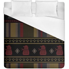 Tardis Doctor Who Ugly Holiday Duvet Cover (King Size)