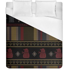 Tardis Doctor Who Ugly Holiday Duvet Cover (California King Size)