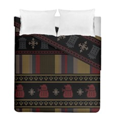 Tardis Doctor Who Ugly Holiday Duvet Cover Double Side (Full/ Double Size)