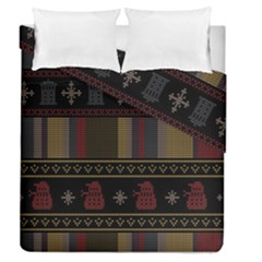 Tardis Doctor Who Ugly Holiday Duvet Cover Double Side (Queen Size)