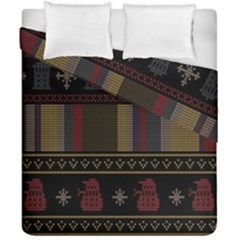 Tardis Doctor Who Ugly Holiday Duvet Cover Double Side (California King Size)