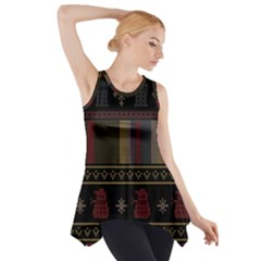 Tardis Doctor Who Ugly Holiday Side Drop Tank Tunic