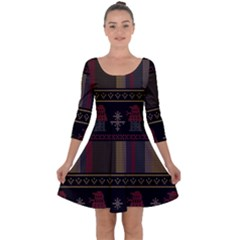Tardis Doctor Who Ugly Holiday Quarter Sleeve Skater Dress