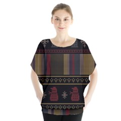 Tardis Doctor Who Ugly Holiday Blouse