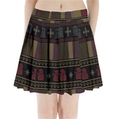 Tardis Doctor Who Ugly Holiday Pleated Mini Skirt