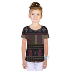 Tardis Doctor Who Ugly Holiday Kids  One Piece Tee