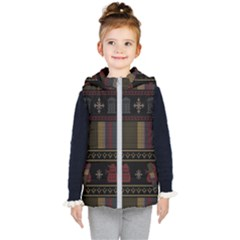 Tardis Doctor Who Ugly Holiday Kid s Hooded Puffer Vest