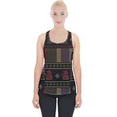 Tardis Doctor Who Ugly Holiday Piece Up Tank Top