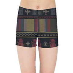 Tardis Doctor Who Ugly Holiday Kids Sports Shorts