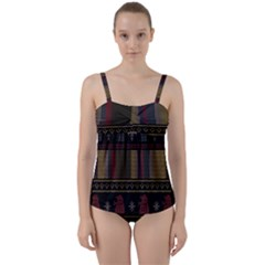 Tardis Doctor Who Ugly Holiday Twist Front Tankini Set