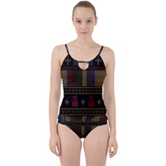 Tardis Doctor Who Ugly Holiday Cut Out Top Tankini Set