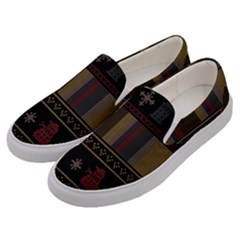 Tardis Doctor Who Ugly Holiday Men s Canvas Slip Ons
