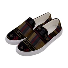 Tardis Doctor Who Ugly Holiday Women s Canvas Slip Ons