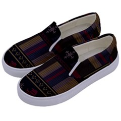 Tardis Doctor Who Ugly Holiday Kids  Canvas Slip Ons
