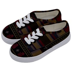 Tardis Doctor Who Ugly Holiday Kids  Classic Low Top Sneakers