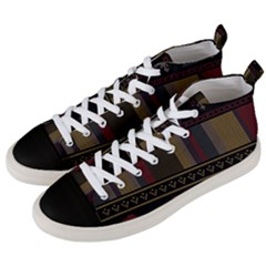 Tardis Doctor Who Ugly Holiday Men s Mid-Top Canvas Sneakers