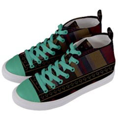 Tardis Doctor Who Ugly Holiday Women s Mid-Top Canvas Sneakers