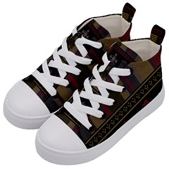 Tardis Doctor Who Ugly Holiday Kid s Mid-Top Canvas Sneakers