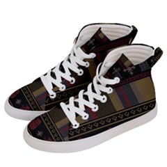 Tardis Doctor Who Ugly Holiday Men s Hi-Top Skate Sneakers