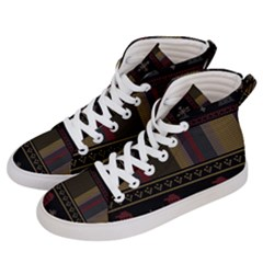 Tardis Doctor Who Ugly Holiday Women s Hi-Top Skate Sneakers