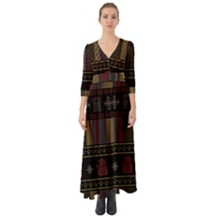 Tardis Doctor Who Ugly Holiday Button Up Boho Maxi Dress