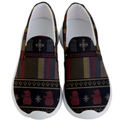Tardis Doctor Who Ugly Holiday Men s Lightweight Slip Ons
