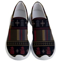 Tardis Doctor Who Ugly Holiday Women s Lightweight Slip Ons